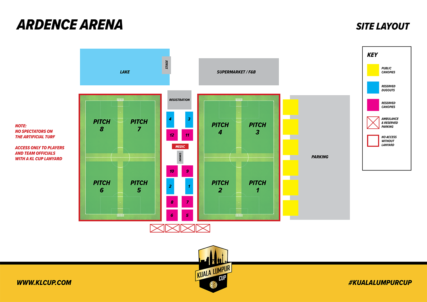 Ardence Arena site plan