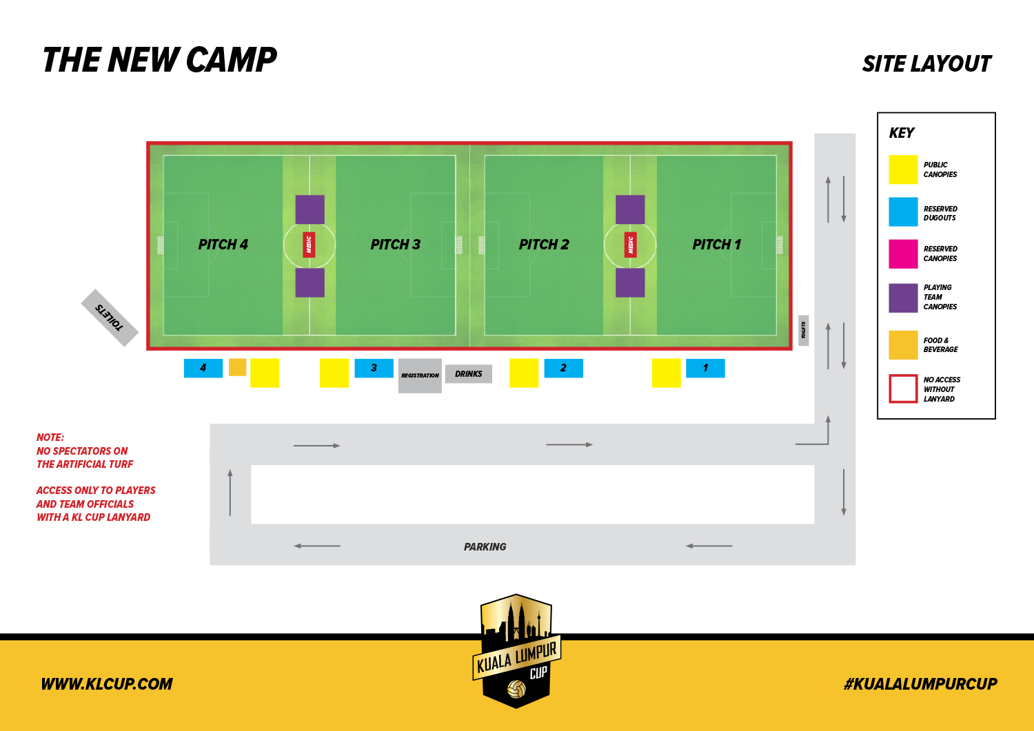 The New Camp site plan